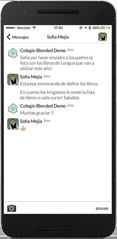 Blended tambien esta disponible como aplicacion para tu Iphone